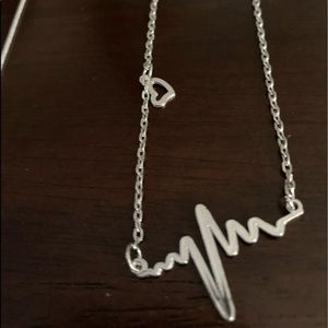 .925 Silver Heartbeat Necklace